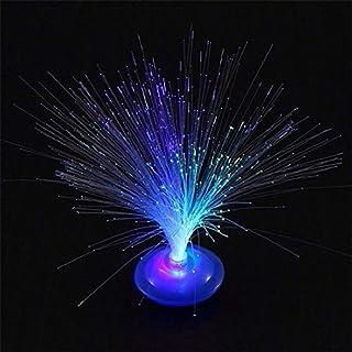 N/A ICOCO - Lámpara de noche con luz LED que cambia de color con fibra óptica LED que cambia de color