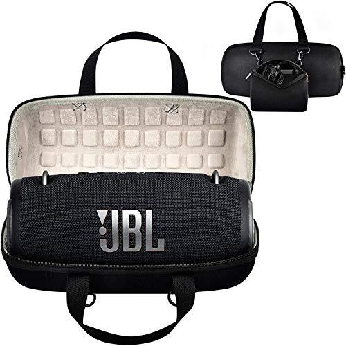 Schutzhülle für JBL Xtreme 3: Tragbarer Lautsprecher (JBLXTREME3BLKAM), Reisebox passt mit USB-Kabel & Ladegerät, Schwarz