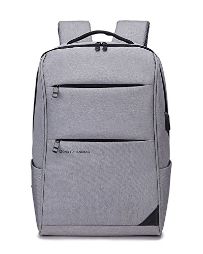 beibao shop Backpack Sacs à Dos pour Ordinateur Portable Commerce Casual Épaules Chargement USB Extérieur Multi-Fonctionnel Sac à Dos d'ordinateur, Gray