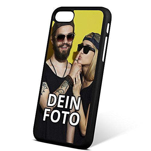 PhotoFancy® - iPhone® 7 Handyhülle mit eigenem Foto Bedrucken - Smartphone Case als personalisierte Schutzhülle (Hardcase schwarz)