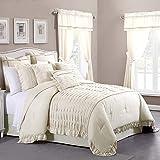 Amrapur Overseas Antonella Sand 24-Piece Comforter Set, Queen