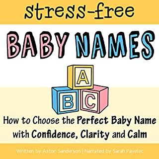 The Stress-Free Baby Names Book audiobook cover art