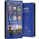 Timoom M7 Reproductor MP3 Bluetooth 16GB con Pantalla de Pantalla táctil completa de 4.0 Radio FM/E-Book/Video/Archivo/Foto, 5.0 Running MP4 Reproductor,Soporte Expandible hasta 128G