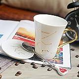 Taza de cerámica de moda par de par de taza de pareja taza de doce constelación taza con tapa taza de agua creativa (acuario)
