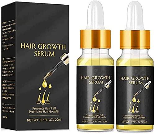 Suero de hierbas espesante de biotina - Suero de jengibre para el crecimiento rápido del cabello Aceite esencial que previene la caída del cabello