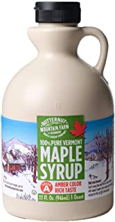 Butternut Mountain Farm Pure Vermont Maple Syrup, Grade A, Amber Color, Rich Taste, All Natural, Easy Pour Jug, 32 Fl Oz, ...