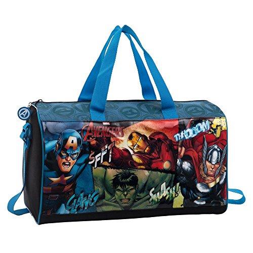 Marvel Avengers Tote da Viaggio, Poliestere, Nero, 42 cm
