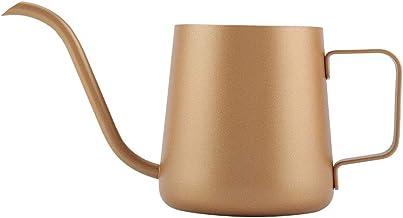 Wilecolly Lång smal pip kaffekanna, 350 ml rostfritt stål svanhals hälla över droppkaffebryggare te- kaffekopp kastrull (g...