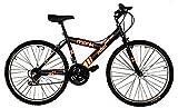 Bicicleta Económica de Montaña con Propiedades Reflejantes Modelo 'Starbike Reflex', Rodada 26 18 Velocidades (Negra)