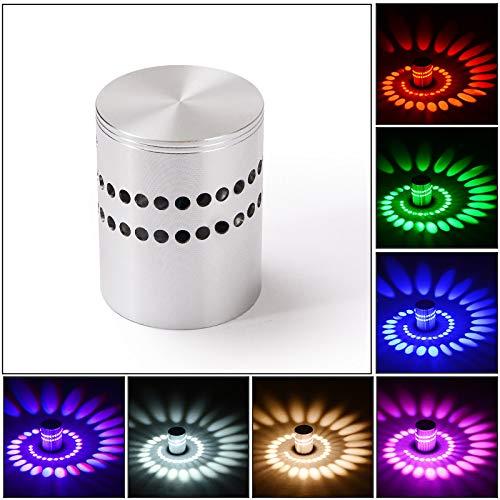 longhua Aplique LED 3W Aluminio Espiral Fondo Perforado Ambiente de luz