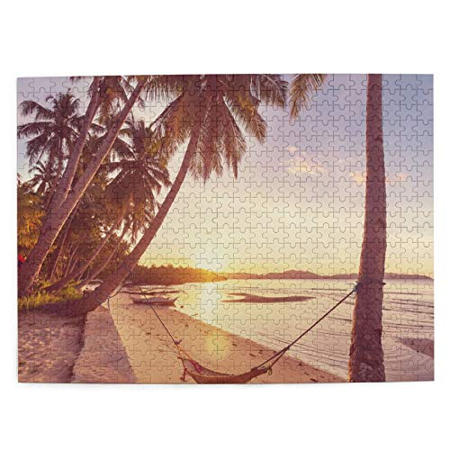 Puzzle 500 Piezas Adultos,Rompecabezas,Serenity Tropical Beach Instagram Filter,Juegos Educativos,Entretenimiento Adultos,Niños y Adolescentes,Divertido Regalo