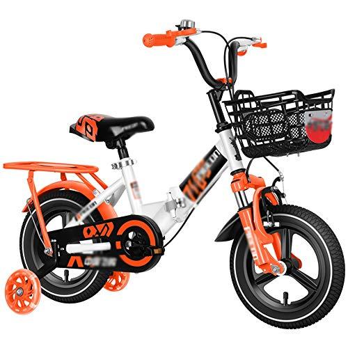 Bicicletas HAIZHEN Plegable, Chicos y Chicas de 12 Pulgadas de Acero del...