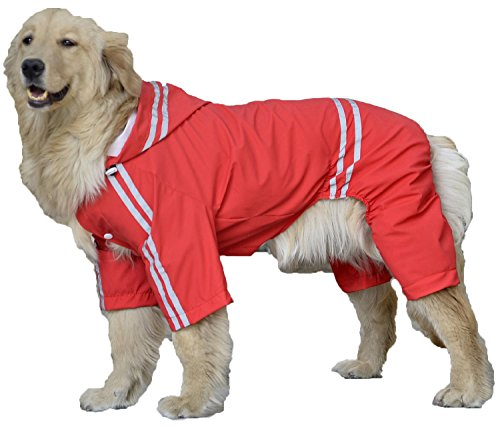 (willmatch) 大型犬 中型犬 犬 用 レインコート レインポンチョ a203 (レッド, 7XL)