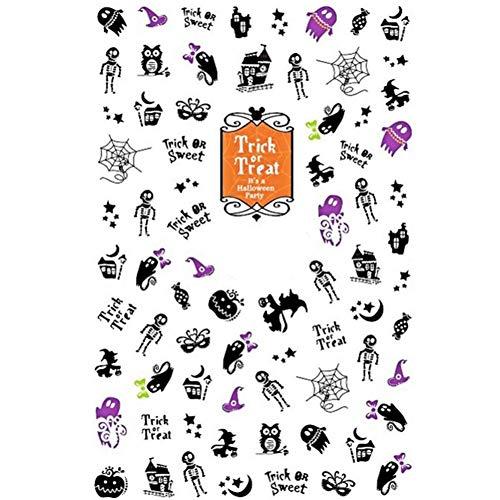Nail Art-stickers, 3 soorten Halloween-serie patroonstickers Ultradun lijm (XF3105)