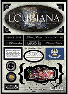 Scrapbook Customs United States Louisiana State Cardstock Stickers Travel