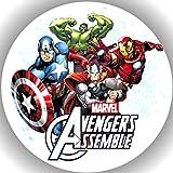 Fondant Tortenaufleger Tortenbild Geburtstag The Avengers T1