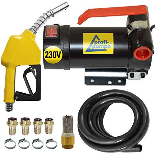 230V- Dieselpumpe und Heizölpumpe Ölpumpe Biodiesel Diesel Star 160-4 Elektro Fasspumpe mit 230V Anschluss, mit 6m Gummi Schlauch, Automatik-Zapfpistole, Diesel-Filter und Hochweritigem Zubehör