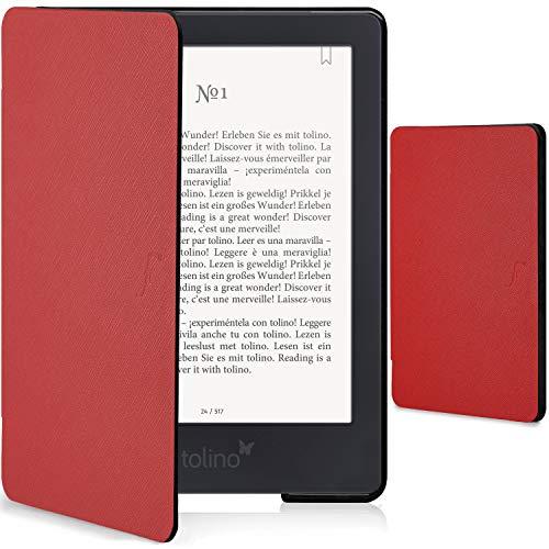 Forefront Cases Smart Hülle für Tolino Shine 3 - Magnetische Schutzülle Case Cover für Tolino Shine 3 eBook-Reader - Smart Auto Schlaf Wach Funktion - Elegant Dünn Leicht - Rot