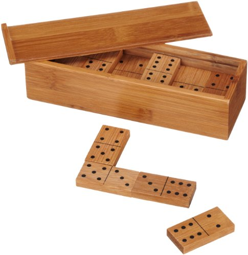 Philos 3265 - Domino Doppel 6, Bambus, Green Games, Legespiel