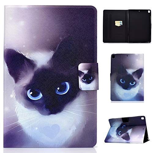 Tedtik Case for iPad Air 10.5' (3rd Gen) 2019 / iPad Pro 10.5' 2017 / iPad 10.2 Smart Case Cover - Ultra Slim Lightweight Stand Case with Stand Function - Cat
