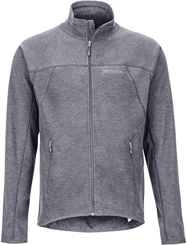 Marmot Herren Fleecejacke, Outdoorjacke, Atmungsaktiv Pisgah Fleece Jacket, Steel Onyx, L, 81810