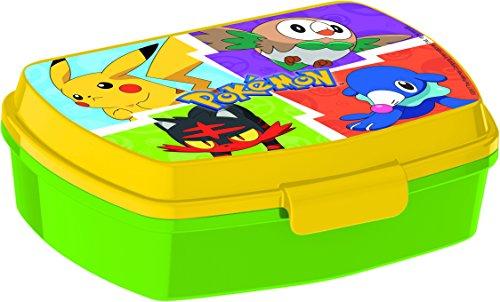 ALMACENESADAN, 0432, Sandwichera Rectangular Pokemon, Producto plastico Libre bpa