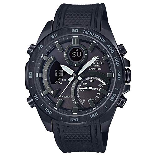 Casio Men's Tough Solar Edifice Smartphone Link Bluetooth Stainless Steel Watch ECB-900PB-1ACF