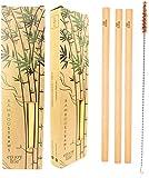 Straw Bamboo | Cannucce in bambù riutilizzabili cannucce da Drink in bambù | Alternativa Ecologica alle cannucce in plastica | cannucce Multiuso in bambù (20 cm)