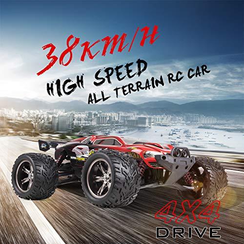 RC Auto kaufen Truggy Bild 4: s-idee® 18160 9116 RC Auto Buggy wasserdichter Monstertruck 1:12 mit 2,4 GHz über 40 km/h schnell, wendig, voll proportional 2WD ferngesteuertes Buggy Racing Auto*