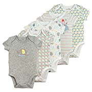 Baby Bodysuit Set, 5-Pack Short Sleeve, 3 Month