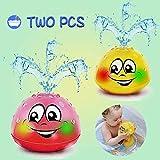 Addmos Badespielzeug, 2 x Wasser Baby Badespielzeug mit Licht Kinder Kleinkinder Spielzeug in Gelb &...