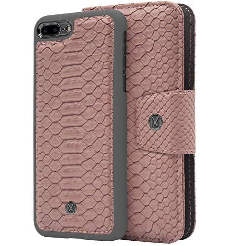 Marvêlle 301 para iPhone 7Plus 8Plus Classic 2 en 1 Funda tipo cartera Qi de carga inalámbrica