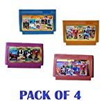 Pacificdeals Bit Video Game Cassette Set with Mario, Contra, etc for Kids