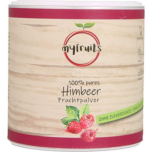 myfruits® Himbeerpulver - ohne Zusätze, zu 100% aus Himbeeren, gefriergetrocknet, Fruchtpulver für Smoothie, Shakes & Joghurt (70g)
