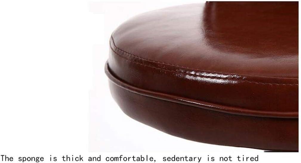 Tabouret haut simple, tabouret de bar avec dossier haut, chaise de bar pivotante, chaise de bar pivotante Tabouret de bar mode - Chaise de bar marron (Color : Brown) White