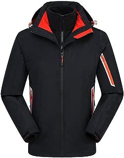 iFOMO Two-Piece Outdoor Waterproof Rain Jacket 3-in-1 Sheel Jackets Fleece Warm Raincoat for Mens US Size XXS-XL
