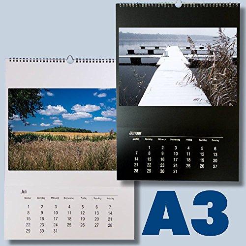 Großer Bastelkalender DIN A3 zum selbst gestalten für 2021 schwarz weiß DIN A3 für Fotos bis 20x30 / 30x30 - Fotokalender Foto Hobbykalender Kreativ Kalender selbstgestalten kka3 …