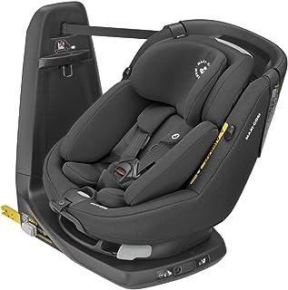 Maxi-Cosi Axissfix Plus Silla de coche giratoria 360° isofix, silla auto reclinable y contramarcha, con reductor bebé recién nacido, 0 meses - 4 años, color authentic black