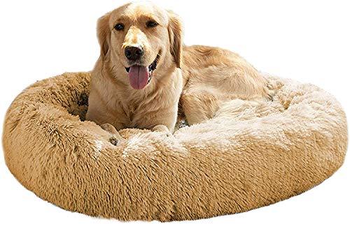 Mirkoo Cama calmante para perros y gatos de felpa, lavable, de pelo redondo, para perros y gatos grandes, medianos y medianos, de piel sintética de hasta 25/35/55/100 libras