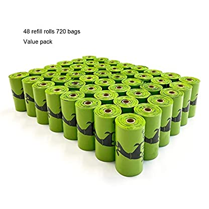 PET N PET Dog Poo Bags 720 Counts Dog Waste Bags With Dispenser Biodegradable Poop Bag Rolls 7