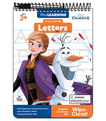 Disney Learning | Trace with Me: Tracing Letters Frozen 2 | Dry-Erase Tablet, 32pgs