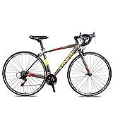 Xiaoyue Bicicleta de Carretera, la Velocidad en Carretera 21 Adultos Bicicletas, Doble V Freno 700C Bicicleta de Carreras, de Aluminio Ligero Hombres Mujeres Bicicleta de Carretera, Negro Rojo lalay