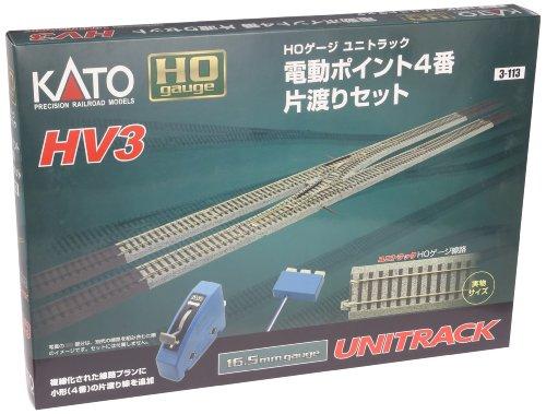 Kato USA Model Train Products HV3 UNITRACK Interchange Track Set with #4 Electric Turnouts