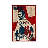 ASDFD Wayne Rooney Art Poster, dekoratives Gemälde,