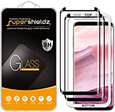 (2 Pack) Supershieldz Designed for Samsung (Galaxy S8 Plus) Tempered Glass Screen Protector with (Easy Installation Tray) Anti Scratch, Bubble Free (Black)