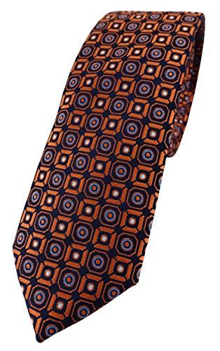 TigerTie Corbata de diseño estrecho con estampado. Tamaño de la corbata: aprox. 150 x 6 cm. Naranja, azul, plateado, negro. Talla única