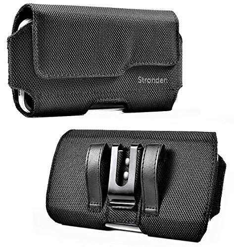 Stronden Samsung Galaxy S10 S9 S8 Nylon Holster Hülle – Gürteltasche mit Clip, Nylontasche Holster Handyhalter (passend für Handy mit Otterbox Symmetrry Hülle)