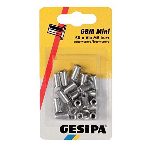 'Gesipa 1464843–Tuerca remachable'Poly Grip M5x 7x 13,5mm de aluminio 50unidades)