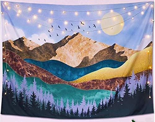 bjyxszd Decoración de Dormitorio Alfombrilla para Yoga Toalla para playaTapiz de Tapiz casero de impresión Digital 3D, Mural de Tapiz de Paisaje Vegetal y Animal-8_El 150 * 130cm