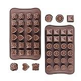 Stampi in Silicone per Cioccolato,6 Diversi Tipi di Stampi, Stampo da Forno per Cioccolatini, per Fare Cioccolato, Gelatina,Torta,Caramella